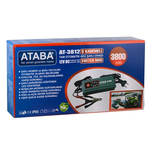Ataba AT-3812 12V 3800 mAh Switch Mode Akü Şarj Cihazı
