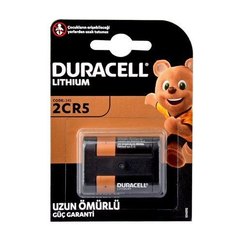 Duracell DL245, 2CR5 Ultra 6V Pil 1li